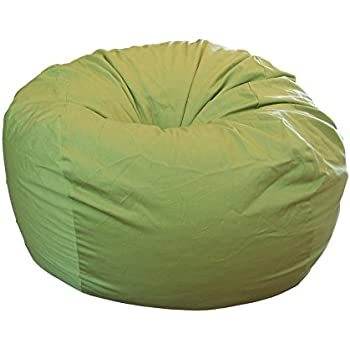ahh products lime organic cotton large bean bag chair