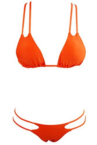 Pinkyee - Conjunto - para mujer naranja