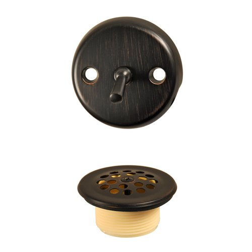 DANCO Trip Lever Tub and Bath Drain Trim Kit with Overflow Plate, Oil Rubbed Bronze, 1-Pack (10580) ()
