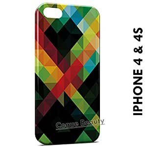 Carcasa Funda iPhone 4/4S Green Red Black & Yellow Protectora Case Cover