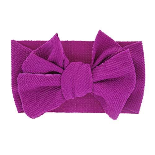 - Baby Girls Headbands Baby Head Wraps Baby Headbands and Bows Chiffon Flower (Purple)