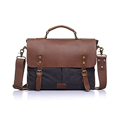 e1df6c5537 80%OFF Blue Canvas With Leather Messenger Bag - hamraaz.ir