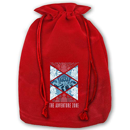 (Christmas Drawstring Gift Bags, The Adventure Zone Santa Sack Backpack for Party and Candy and)