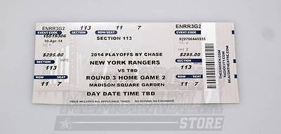 New York Rangers Vs Montreal Canadiens 2014 Stanley Cup Playoffs Game 3 Ticket A Your Sports Memorabilia Store