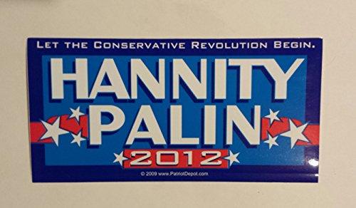 Vintage Sean Hannity Sarah Palin Presidential Bumper Sticker 8