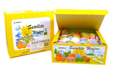 Satellite Wafers - Sour Powder, 240 count Display box