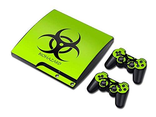 CSBC Skins Sony PS3 Slim Design Foils Faceplate Set - Biohazard Design