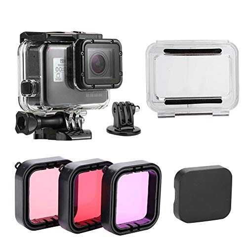 Yosoo- Dive Protective Housing Case 3 Pack Dive Filters Gopro Hero 5/6 by Yosoo-