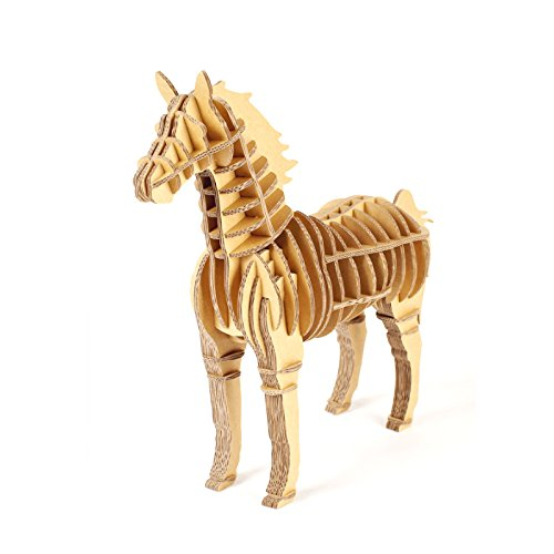 Cardboard Craft 3D Puzzle Animal Decor Recycled Clipboard Creative DIY Molds Taxidermy (Horse) -