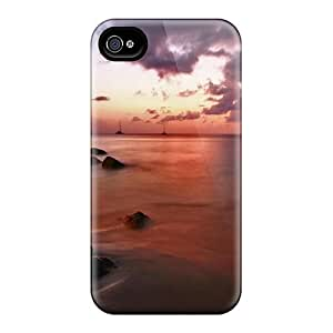 For Iphone 4/4s Premium Tpu Case Cover Sailboats On A Beautiful Sea Protective Case