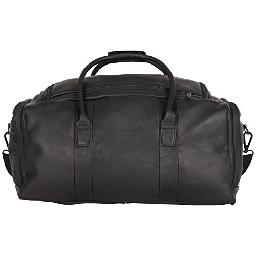 """41TElOsAYvL - Kenneth Cole Reaction Duff Guy Colombian Leather 20"""" Single Compartment Top Load Travel Duffel Bag, Black"""