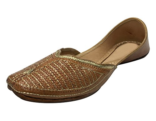 Étape N Style Chaussures Perlées Chaussures Brodées Robe Chaussures Punjabi Jutti Khussa Chaussures
