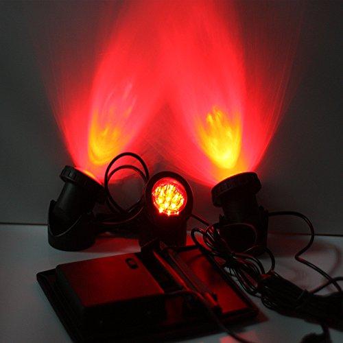 Duracell Solar Powered Black Outdoor Led Spot Light 6: LVJING Solar Light Outdoor Sensor, RGB Color Changing LED
