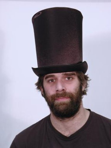 HMS Men's Satin Victorian Coachman Hat, Black, One Size