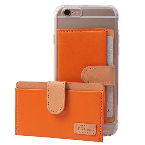 ringke-genuine-leather-id-adhesive-card-holder-3m-sticker-card-pouch-orange-stick-on-your-case-mini-