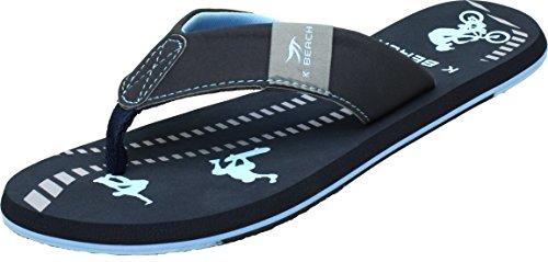 BOCKSTIEGEL Chanclas para hombres y mujeres | Varios diseños | Zapatillas de ducha | Suela antideslizante KATRIN - Azul oscuro