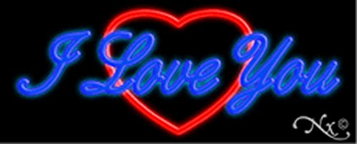 13x32x3 inches I Love You, Logo NEON Advertising Window Sign by Light Master