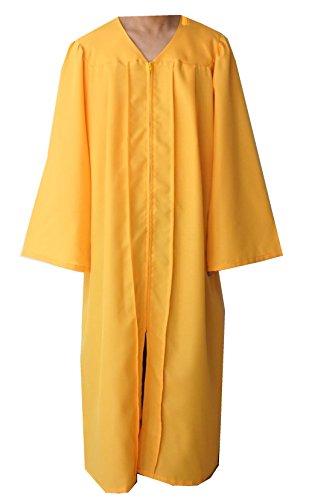 Grad Days Unisex Adult Choir Robes Matte Finish Confirmation Robe (Gold, 42)