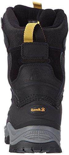 Kamik KEYSTONE - botas de nieve de cuero hombre negro - Schwarz (BLACK-NOIR / BLK)