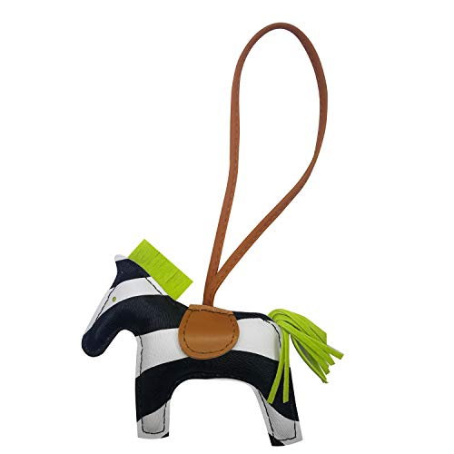Hermes Accessories - Bag Charm for Women Purse Charm Horse Leather Keychain Handbag Accessories (Zebrawhite)