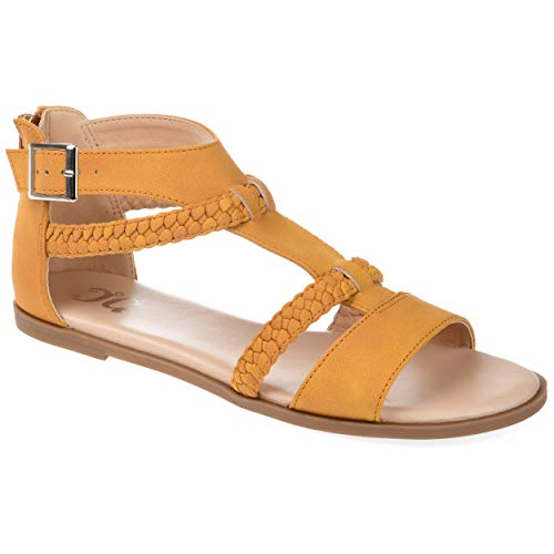 Journee Collection Comfort Womens Florence Sandal Mustard, 8.5 Regular US