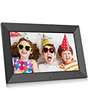 BSIMB 10.1 Inch Digital Picture Frame, Electronic Photo Frame with Motion Sensor - Videos/Photos Slideshow, Portrait or Landscape, Wall-Mountable, Support USB Drive/SD Card M10