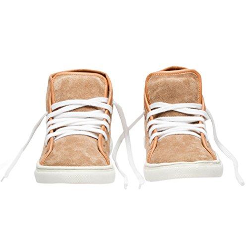 Tedish Sneakers Dames Wandelschoenen Meisje Leder Comfortabele Ongedwongen Lace-up Flats Td005 Esoterische Praline Praline