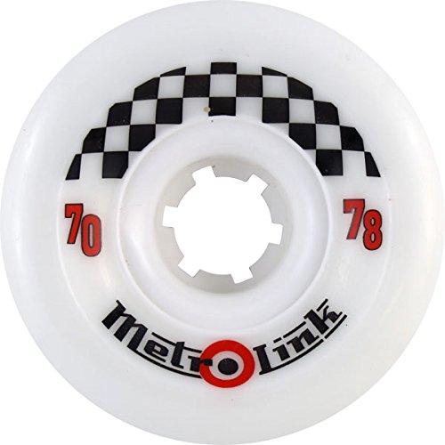訪問ライフル治すMetro Link 70mm 78a White Skateboard Wheels (Set Of 4) by Metro Wheel Co