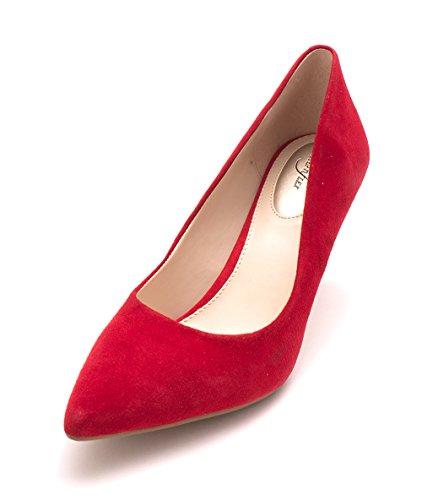 Zapatillas Clásicas Para Mujer Alfparti Jeules Con Punta Negra True Red