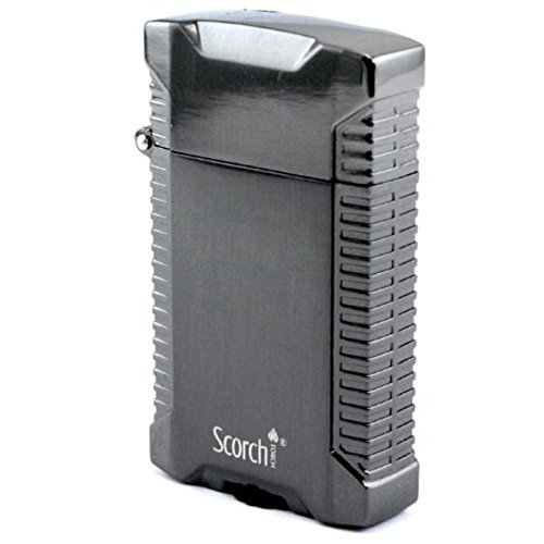 Scorch Torch Orion Double Jet Flame Flip Top Cigar Torch Lighter (Gunmetal)