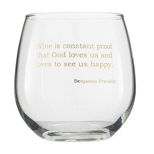 Studio Penny Lane Stemless Wine - Ben Franklin Style Glasses