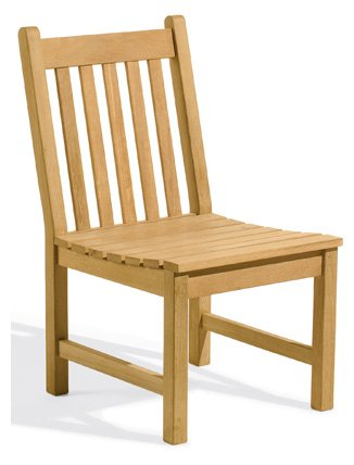 Oxford Garden - Classic Collection Shorea Sidechair | 100% Tropical Shorea Hardwood Outdoor ()