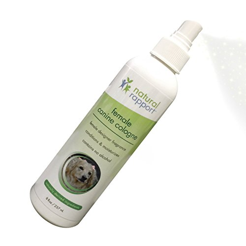 ologne Spray - 3-in-1 Natural Deodorizer Spritz for Dogs - Also Moisturizes and Softens Coat - Designer Female Fragrance – No Alcohol - 8 fl oz (Dog Deodorant)