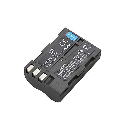 D70s Battery Pack (LP EN-EL3e Battery, Compatible with Nikon EN-EL3e, EL3, EL3a Battery, Nikon D50, D70, D70s, D80, D90, D100, D200, D300, D300s, D700 DSLR Cameras, Nikon MH-18, MH-18a, MH-19 Charger)