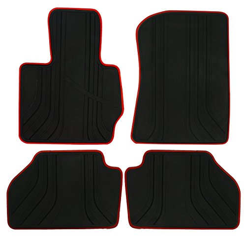 (biosp All Weather Floor Mats Liners Compatible Fit 2014-2017 BMW X3 F25 X4 F26 Runner Front and Rear Set Heavy Duty Rubber Car Carpet )