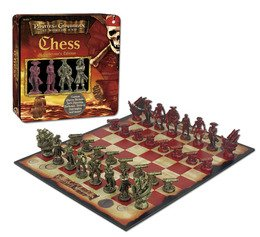 Disney Pirates of the Caribbean Dead Man's Chest, Chess Collector's Edition in a (Pearl Collectors Tin)