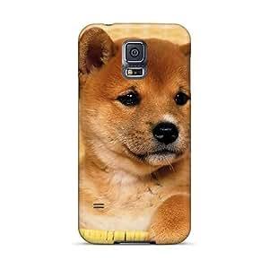 AlainTanielian Samsung Galaxy S5 Shock Absorption Hard Phone Cover Unique Design Trendy Cute Shiba Inu Puppy Skin [OFR27068uJiU]