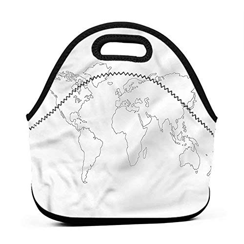 for Womens Mens Boys Girls Map,Simple Outline Abstract,igloo lunch bag for kids