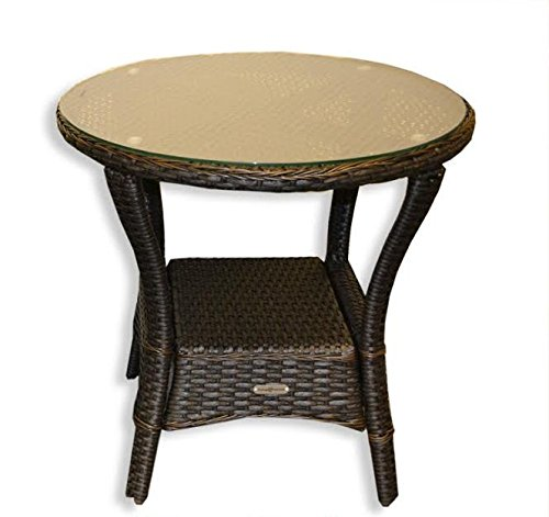 Tortuga Outdoor Garden Patio Lexington Side Table - Tortoise