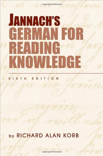 Jannach's German for Reading Knowledge by Korb, Richard Alan (2008) Paperback