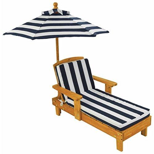 KidKraft Outdoor Chaise with Umbrella 102x50x52 cm Multi Wood