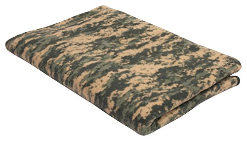 Fleece Camouflage Blanket, ACU Digital Camo