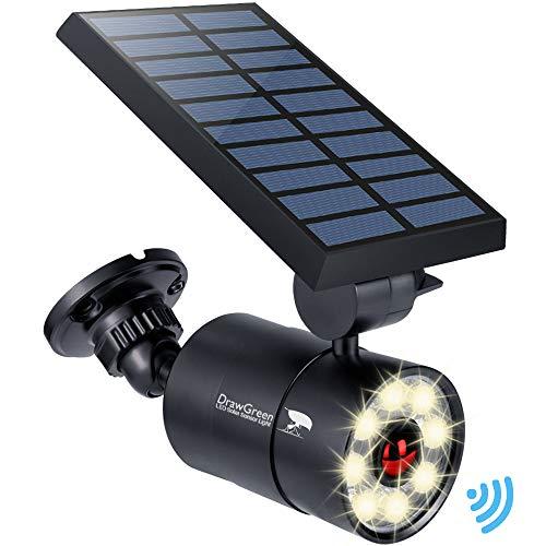 Solar Motion Sensor Lights Outdoor Aluminum,1400LM Warm White LED Spotlight 9-Watt(130W Equ.) Solar Security Lights for Garden Driveway Patio, 2-Year Battery Life,160-Week 100% Replacement Guarantee