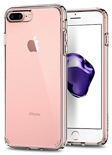 Spigen Ultra Hybrid [2nd Generation] iPhone 8 Plus Case/iPhone 7 Plus Case with Clear Protection and Air Cushion Technology for iPhone 8 Plus (2017)/iPhone 7 Plus (2016) – Crystal Clear