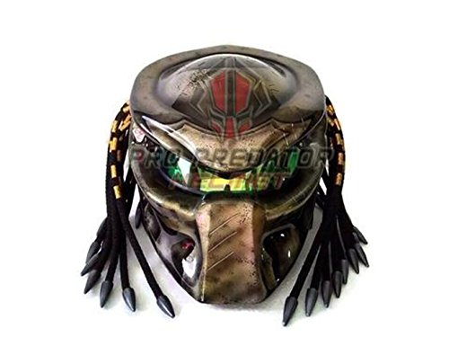 Version 2 Custom Handmade Predator Motorcycle Dot Approved Helmet Metallic ()