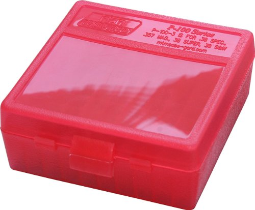 Review MTM 100 Round Flip-Top Ammo Box 38/357 Cal (Clear Red)