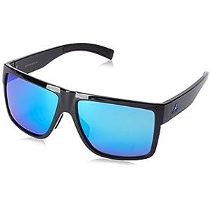 adidas Mens 3Matic a427 6054 Rectangular Sunglasses, Black Shiny, 60 mm