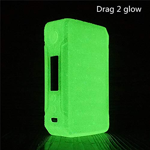 DSC-Mart Texture Case for VOOPOO Drag 2 177W, Anti-Slip Silicone Cover Sleeve Wrap Fits Drag 2 (Glow in The Dark)