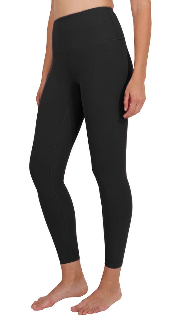 90 Degree By Reflex High Waist Power Flex Legging - Tummy Control - Black Ankle Length - XS by 90 Degree By Reflex