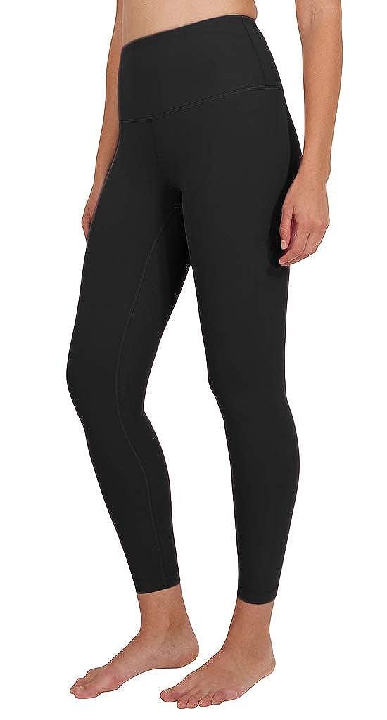 Black Ankle Length Yogalicious High Waist Ultra Soft Lightweight Leggings   High Rise Yoga Pants
